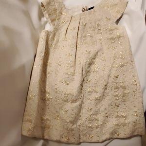 Baby Gap Metallic Dress & Northface Zip Up